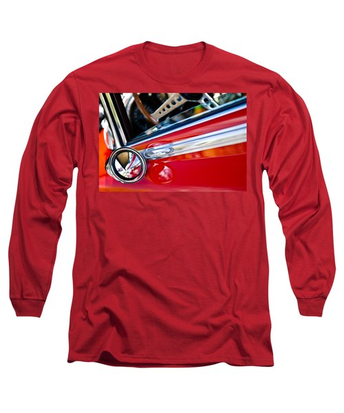 Classic Red Car Artwork Long Sleeve T-Shirt