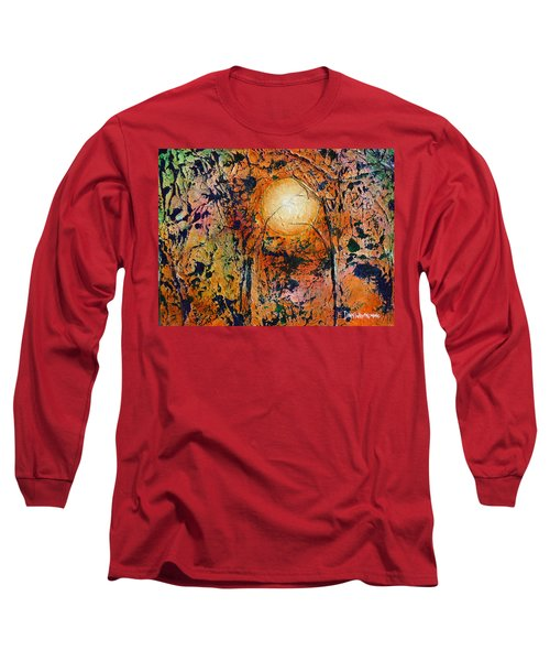 Long Sleeve T-Shirt featuring the painting Copper Moon by Dan Whittemore