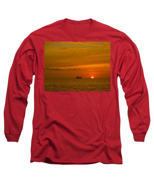 Long Sleeve T-Shirt featuring the photograph Costa Rica Sunset by Eric Tressler