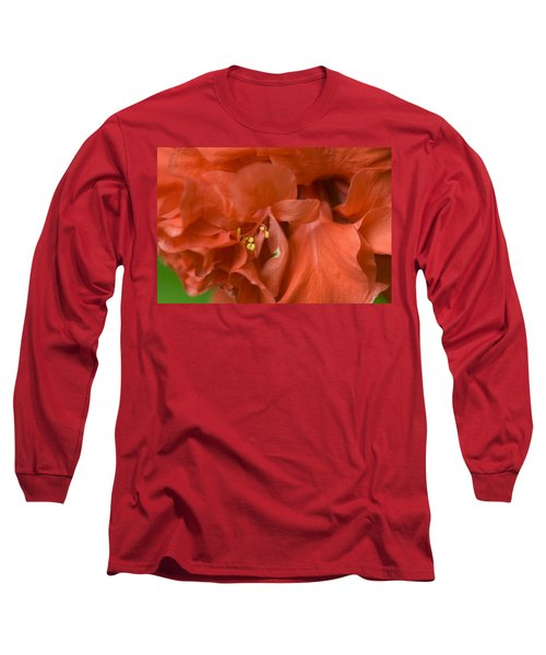 Curly Hibiscus Long Sleeve T-Shirt