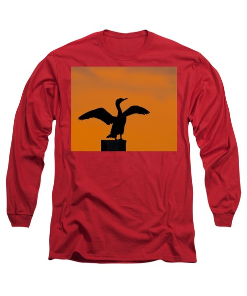 Dawn Of A Double-crested Cormorant  Long Sleeve T-Shirt