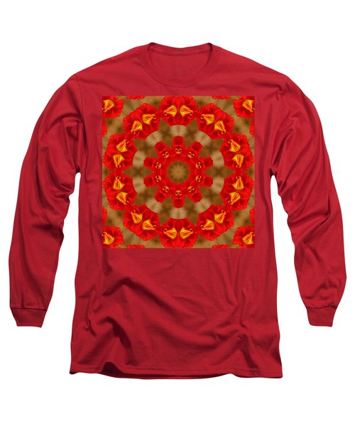 Long Sleeve T-Shirt featuring the photograph Day Lily Kaleidoscope by Bill Barber