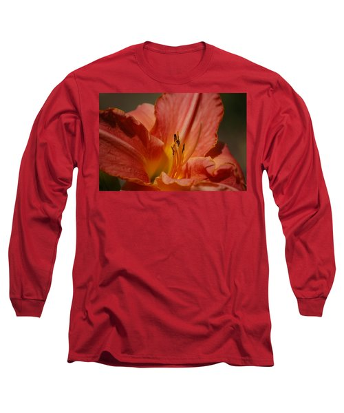Daylilly Long Sleeve T-Shirt by Randy J Heath