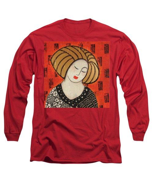 Long Sleeve T-Shirt featuring the mixed media Deeper Still by Gloria Rothrock