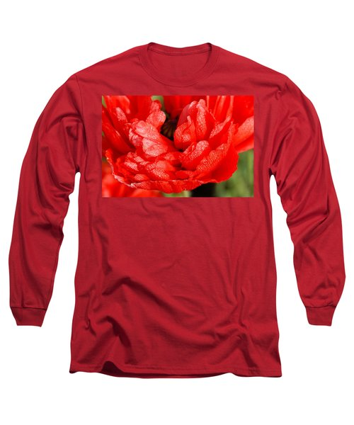 Long Sleeve T-Shirt featuring the photograph Dewdrops by Fotosas Photography