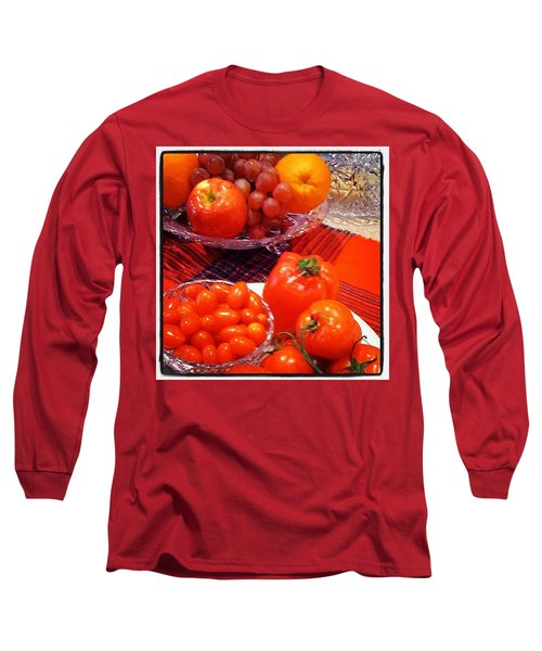 Eat Your #fruit And #vegetables ! Long Sleeve T-Shirt