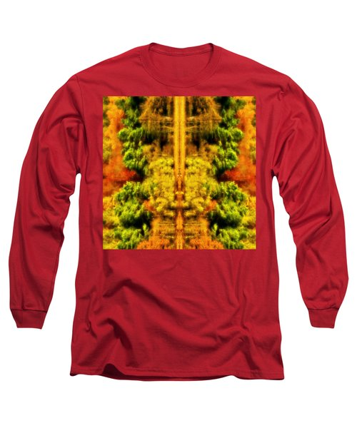 Fall Abstract Long Sleeve T-Shirt by Meirion Matthias