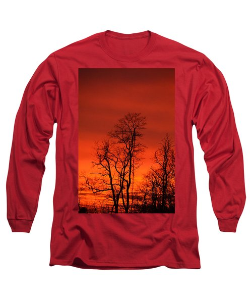 Fire Sky Long Sleeve T-Shirt by Bonnie Myszka