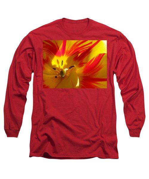 Fire Tulip Long Sleeve T-Shirt