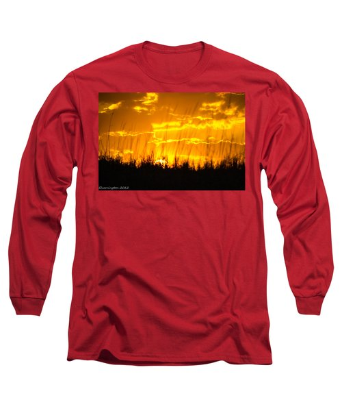 Long Sleeve T-Shirt featuring the photograph Firey Sunset by Shannon Harrington
