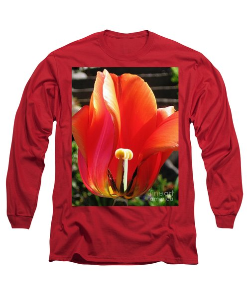 Flame Long Sleeve T-Shirt by Rory Sagner