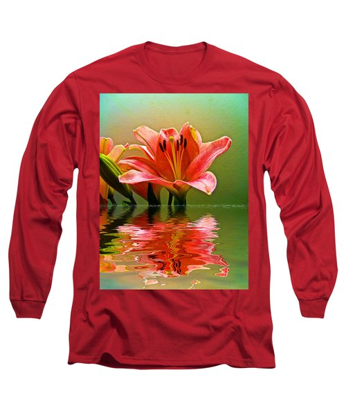 Flooded Lily Long Sleeve T-Shirt by Bill Barber