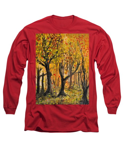 Long Sleeve T-Shirt featuring the painting Foliage by Evelina Popilian