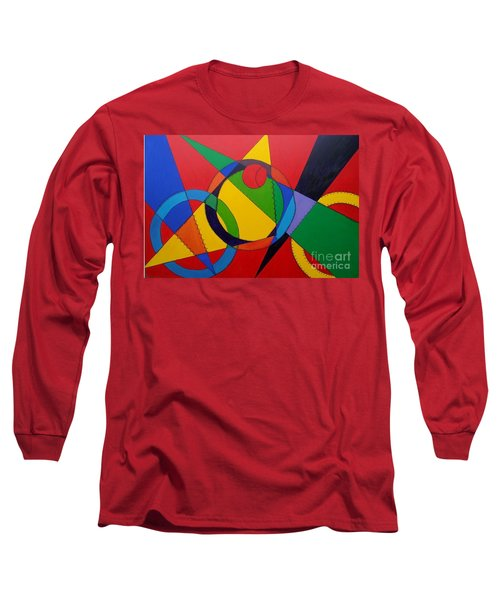 Long Sleeve T-Shirt featuring the painting Frankenball by Julie Brugh Riffey