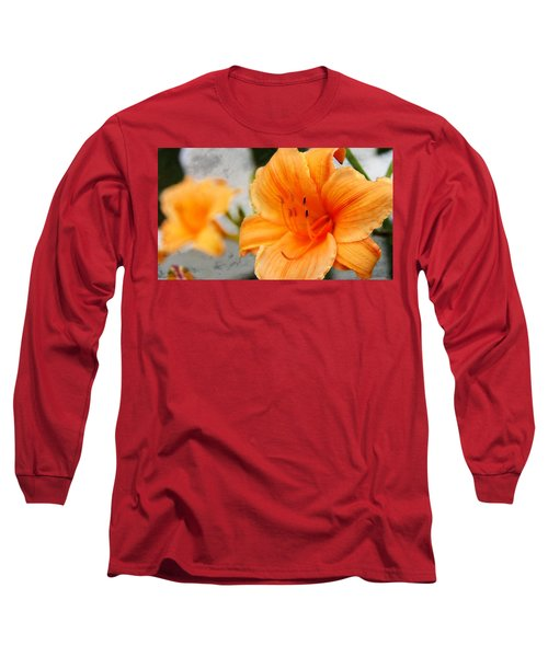 Long Sleeve T-Shirt featuring the photograph Garden Lily by Davandra Cribbie