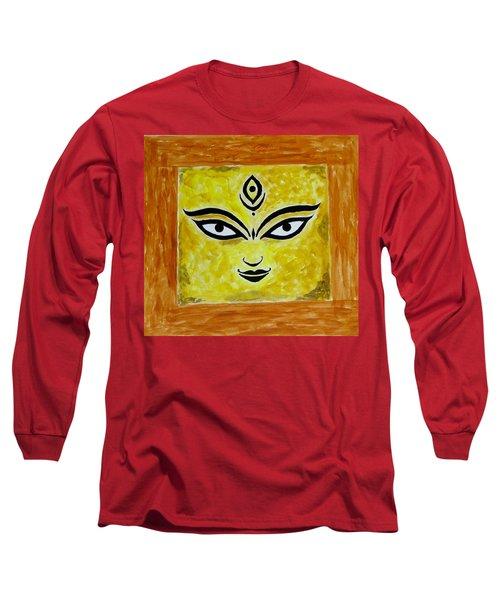 Long Sleeve T-Shirt featuring the painting Goddess Kali by Sonali Gangane