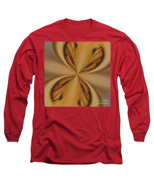 Golden Butterfly Long Sleeve T-Shirt