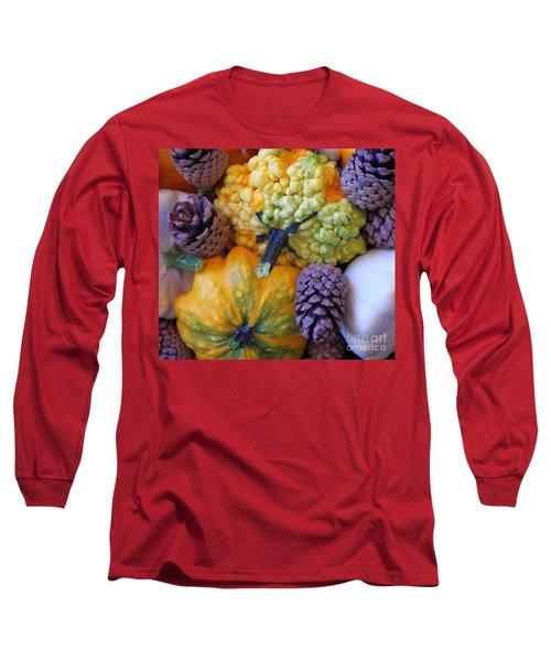 Long Sleeve T-Shirt featuring the photograph Gourds 4 by Deniece Platt
