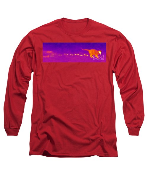 Infrared Of A Cat Walking Long Sleeve T-Shirt