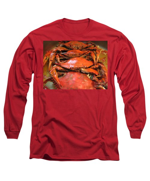 Long Sleeve T-Shirt featuring the photograph Crab Dinner Ocean Seafood  by Susan Carella