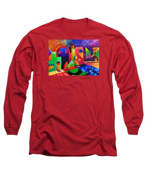 Little Village By Sandralira Long Sleeve T-Shirt by Sandra Lira