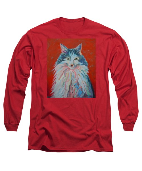 Long Sleeve T-Shirt featuring the painting Lovely Star by Francine Frank