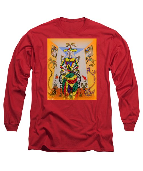 Long Sleeve T-Shirt featuring the painting  Eleonore Graduation  by Marie Schwarzer