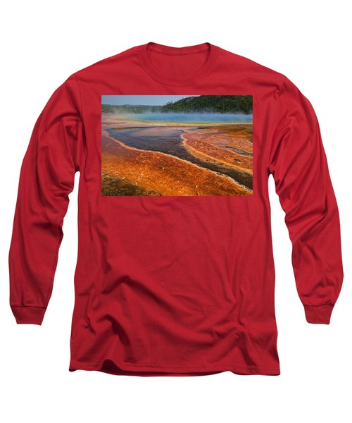 Middle Hot Springs Yellowstone Long Sleeve T-Shirt