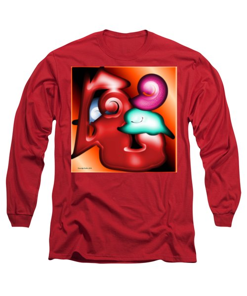 Long Sleeve T-Shirt featuring the digital art Mother And Child by George Pedro