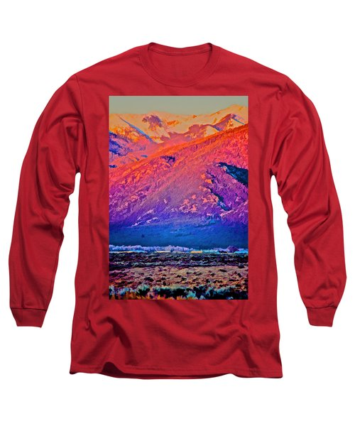 Mt Wheeler At Sunset Long Sleeve T-Shirt