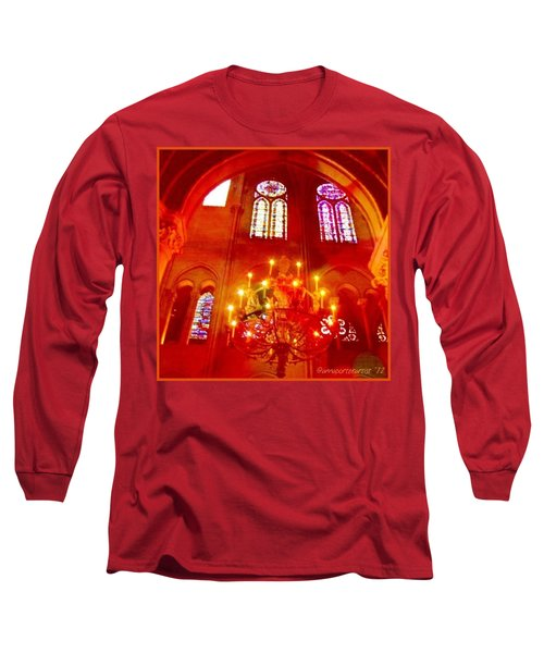 Notre Dame Cathedral - Paris France Long Sleeve T-Shirt by Anna Porter