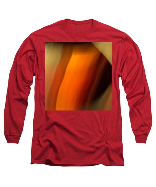 Long Sleeve T-Shirt featuring the mixed media O'keefe I by Terence Morrissey