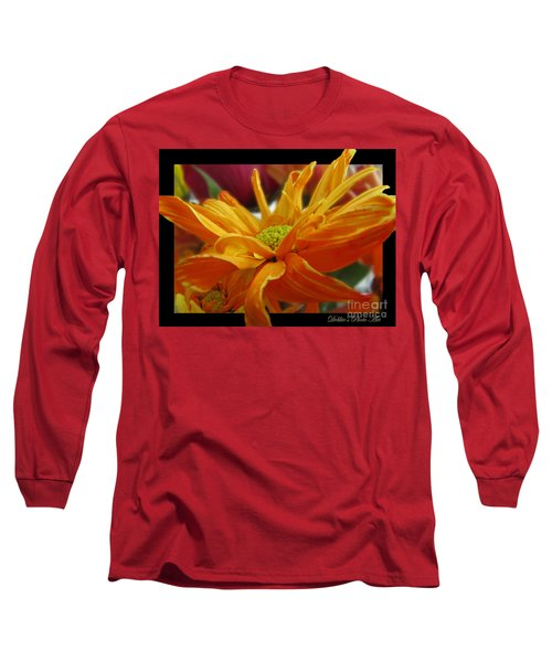 Long Sleeve T-Shirt featuring the photograph Orange Juice Daisy by Debbie Portwood