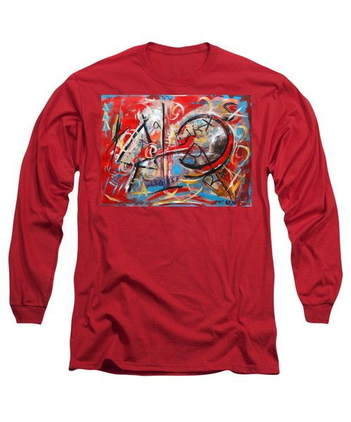 Long Sleeve T-Shirt featuring the painting Party At The Ranch by M Diane Bonaparte