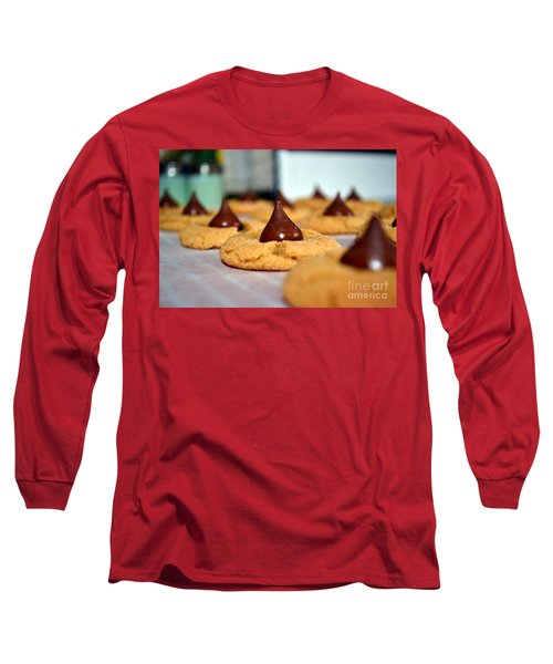 Peanut Blossoms Long Sleeve T-Shirt by Bonnie Myszka