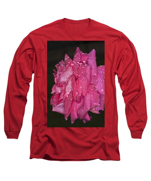 Long Sleeve T-Shirt featuring the photograph Pink Rose Wendy Cussons by Steve Purnell