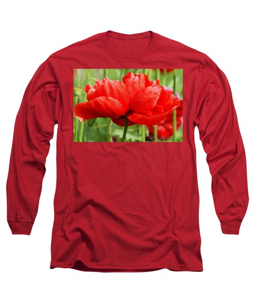 Long Sleeve T-Shirt featuring the photograph Red And Green by Fotosas Photography
