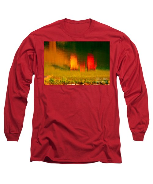 Long Sleeve T-Shirt featuring the photograph Red And Orange Chairs by Les Palenik
