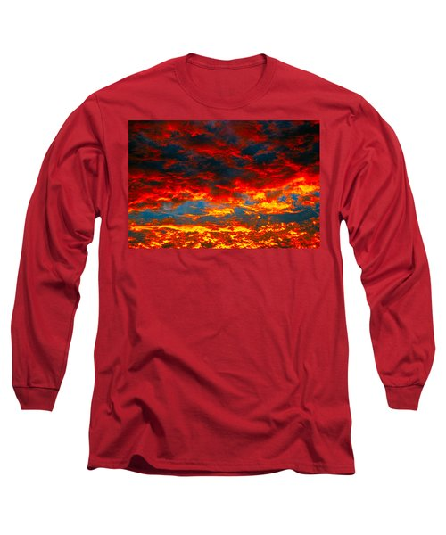 Red Clouds Long Sleeve T-Shirt