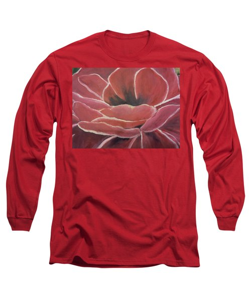 Red Flower Long Sleeve T-Shirt by Christy Saunders Church