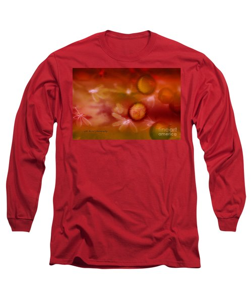 Red Pearl Dragon Fly Long Sleeve T-Shirt