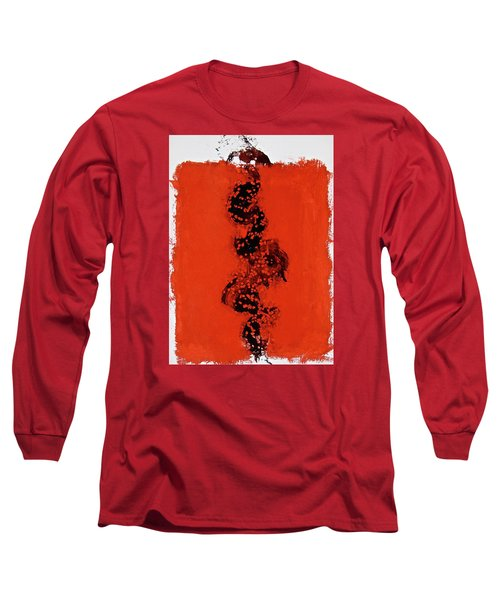 Long Sleeve T-Shirt featuring the painting Serpentine All In A Roe by Cliff Spohn
