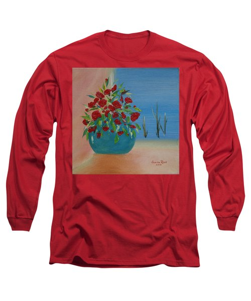 Long Sleeve T-Shirt featuring the painting Southwestern 1 by Judith Rhue