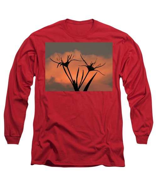 Spider Lilies At Sunset Long Sleeve T-Shirt