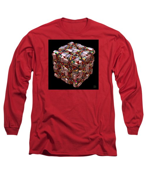Spiral Box I Long Sleeve T-Shirt by Manny Lorenzo