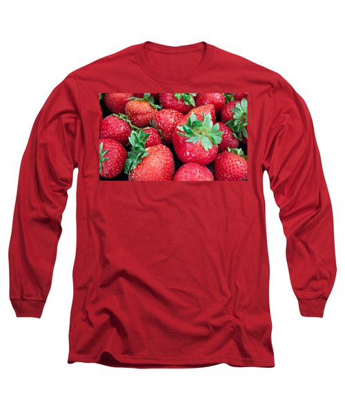 Long Sleeve T-Shirt featuring the photograph Strawberry Delight by Sherry Hallemeier