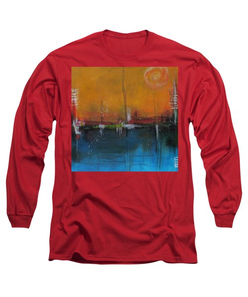 Long Sleeve T-Shirt featuring the painting Sunset At The Lake # 2 by Nicole Nadeau