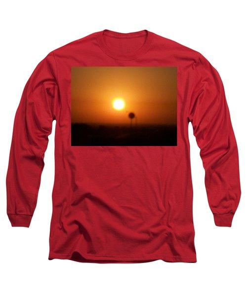 Texas Sunrise Long Sleeve T-Shirt by Adam Cornelison