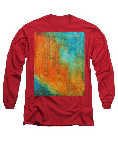 Long Sleeve T-Shirt featuring the painting The Garden by Nicole Nadeau