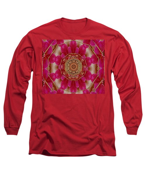 The Golden Orchid Mandala Long Sleeve T-Shirt